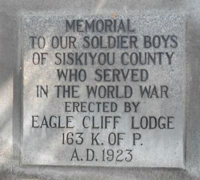 Dunsmuir World War Memorial Marker image. Click for full size.