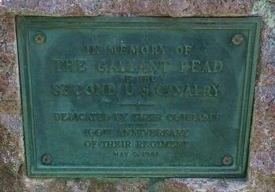 In Memory of the Gallant Dead of the Second U.S. Cavalry Marker image. Click for full size.