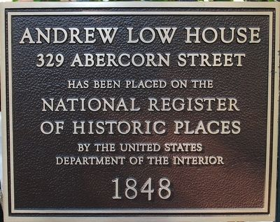 Andrew Low House Marker image. Click for full size.