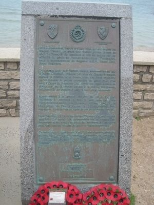 Mulberry Harbours Memorial Marker image. Click for full size.