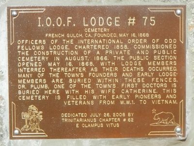 I.O.O.F. Lodge #75 Marker image. Click for full size.