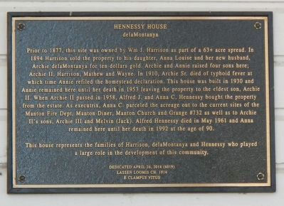 Hennessy House Marker image. Click for full size.
