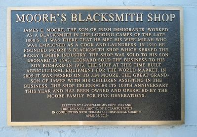 Moore's Blacksmith Shop Marker image. Click for full size.