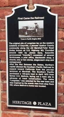 First Came the Railroad Marker image. Click for full size.