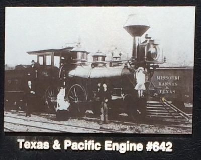 Texas & Pacific Engine #642 (Photo from marker) image. Click for full size.