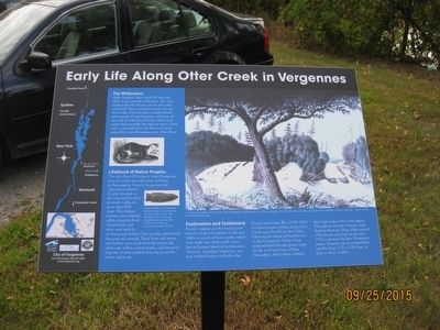 Early Life Along Otter Creek in Vergennes Marker image. Click for full size.
