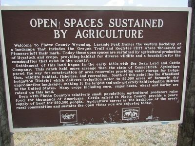 Open Spaces Sustained by Agriculture Marker image. Click for full size.