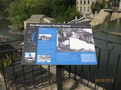 The Vergennes Pump House Marker image. Click for full size.