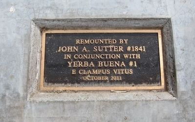 Yolo County Courthouse Marker - Rededication/Remounting Plaque. image. Click for full size.