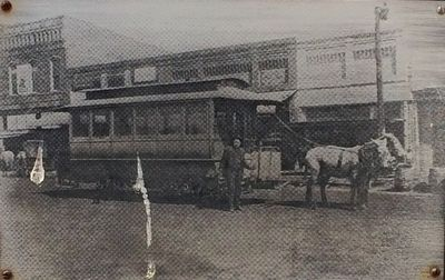 Driver, Issac Smith shown with the winter trolley. image. Click for full size.