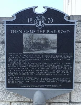 Then Came the Railroad Marker image. Click for full size.