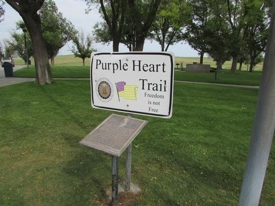 Purple Heart Trail Marker image. Click for full size.
