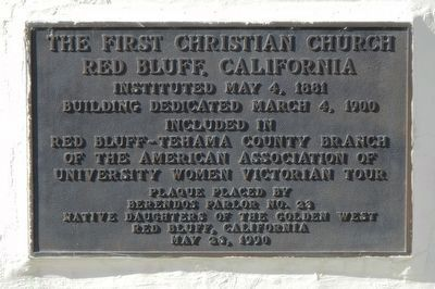 The First Christian Church Marker image. Click for full size.
