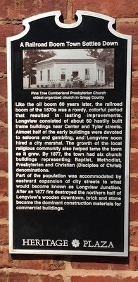 A Railroad Boom Town Settles Down Marker image. Click for full size.