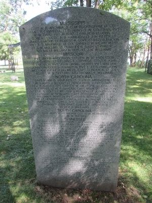 Back of Johnson Island Monument Marker image. Click for full size.