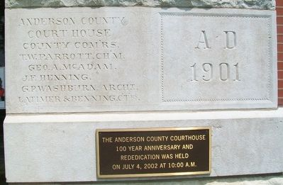 Anderson County Courthouse Marker image, Touch for more information