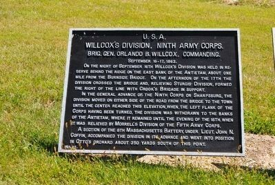 Willcox's Division, Ninth Army Corps Marker image. Click for full size.