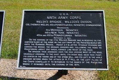 Ninth Army Corps Marker image. Click for full size.