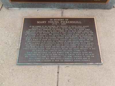 In Memory of Mary Young Pickersgill Marker image. Click for full size.