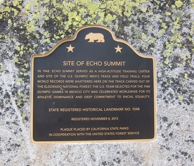Site of Echo Summit Marker image. Click for full size.