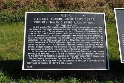 Sturgis's Division, Ninth Army Corps Marker image. Click for full size.