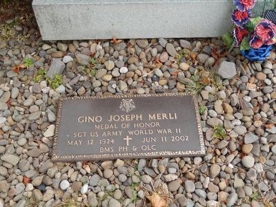 Gino J. Merli Medal of Honor Marker image. Click for full size.
