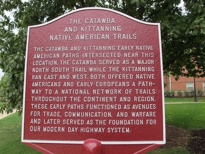 The Catawba and Kittanning Native American Trails Marker image. Click for full size.