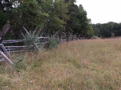 Historic Fence Line near the Turning the Tide Marker image. Click for full size.