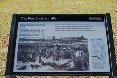This Was Andersonville Marker image. Click for full size.