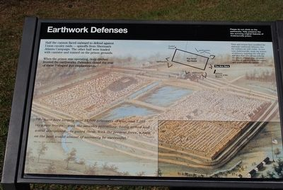 Earthwork Defenses Marker image. Click for full size.