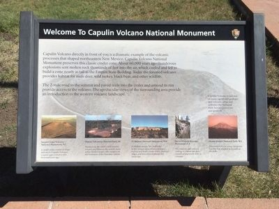 Welcome to Capulin Volcano National Monument Marker image. Click for full size.