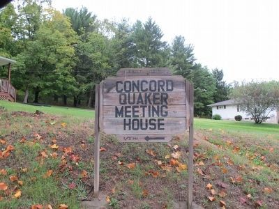 Concord Hicksite Friends Meeting House Marker image. Click for full size.