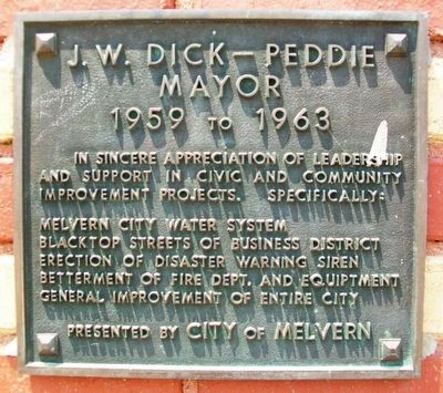 J. W. Dick-Peddie Marker image. Click for full size.