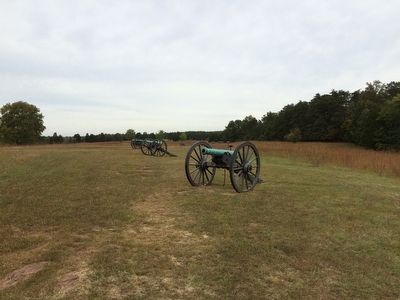 Another view of the Confederate Artillery Pieces on Henry Hill image. Click for full size.
