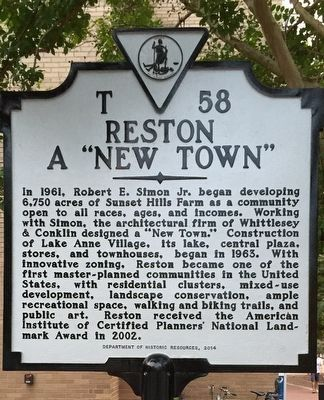 "Reston - ""A New Town"" Marker image. Click for full size."
