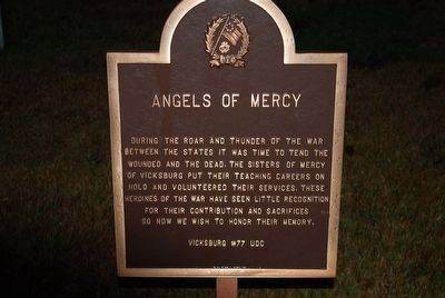 Soldiers Rest C.S.A. Cemetery/ Angel of Mercy Marker image. Click for full size.