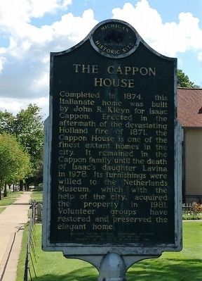 The Cappon House Marker image. Click for full size.