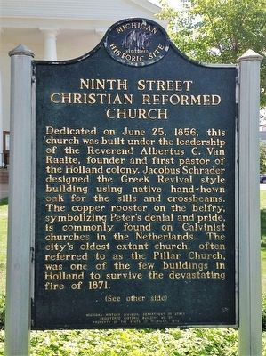Ninth Street Christian Reformed Church Marker image. Click for full size.