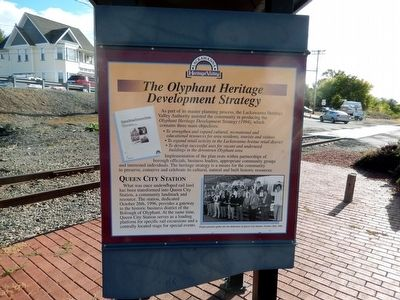 The Olyphant Heritage Development Strategy Marker image. Click for full size.