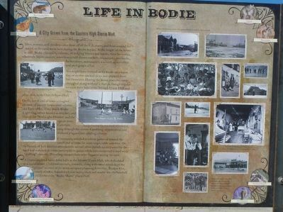 Life in Bodie Marker image. Click for full size.