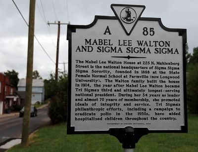 Mabel Lee Walton and Sigma Sigma Sigma Marker image. Click for full size.