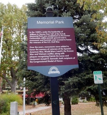 Memorial Park Marker image. Click for full size.