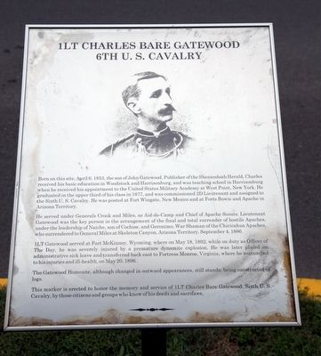 First Lieutenant Charles Bare Gatewood Marker image. Click for full size.