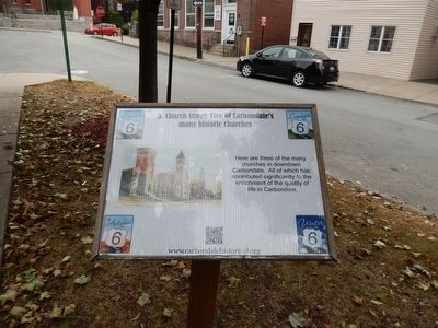 Church Street: Five of Carbondale's many historic Churches Marker image. Click for full size.