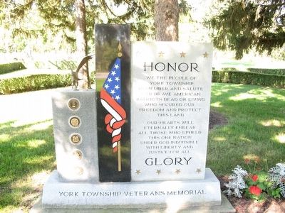 York Township Veterans Memorial Marker image. Click for full size.