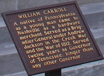 William Carroll Marker image. Click for full size.