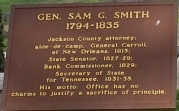 Gen. Sam G. Smith Marker image. Click for full size.