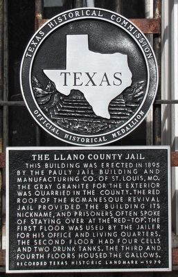 The Llano County Jail Texas Historical Marker image. Click for full size.