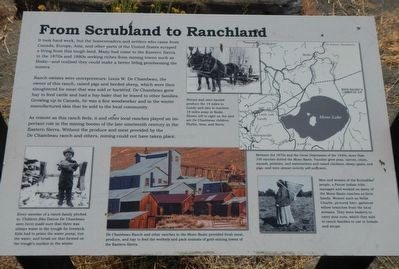 From Scrubland to Ranchland Marker image. Click for full size.