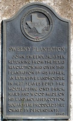 Sweeny Plantation Marker image. Click for full size.